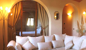 Interior of tuscan house rental