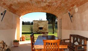 loggia veranda of tuscan villa