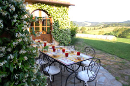 panoramic terrace of the tuscany villa