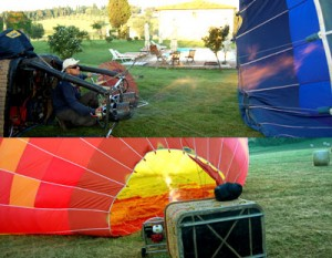 put fire in hot air balloons