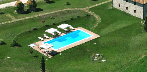 panoramic swimming pool in san gimignano tuscany