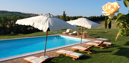 Swimming pool villa rental san gimignano tuscany
