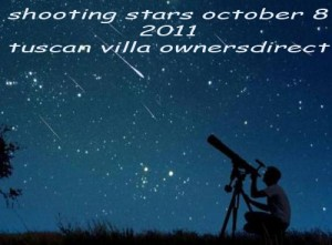 shooting stars october 8 tuscany villa owners direct