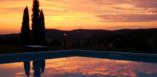 sunset tuscany villa pool