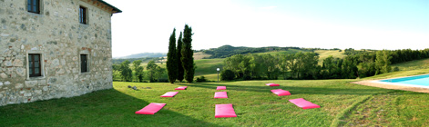 yoga vacation in tuscany villa