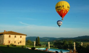 rent tuscan  villa halloween hot air balloons