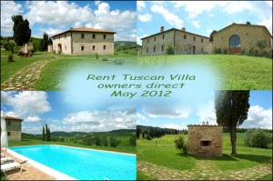 Rent tuscan villa owners direct may 2012