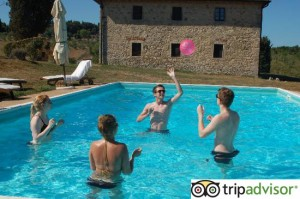 review on tripadvisor for tuscan villa with pool