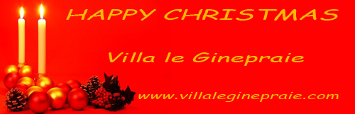 chiristmas card from villa in tuscany