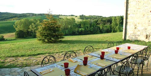 rooftop terrace of the tuscan villa
