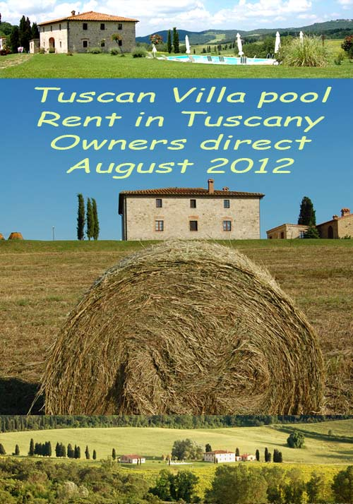 rent villa in tuscany with pool august