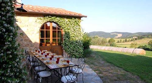 panoramic terrace of tuscan villa
