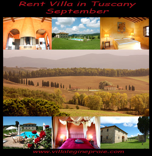 Rent villa in Tuscany september