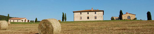 Villa in Tuscany with  Haystacks