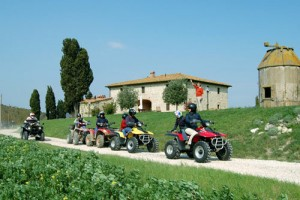 Rent quad in a Tuscany villa
