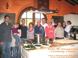 cooking class in tuscan villa