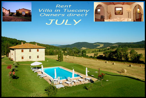 Rent Tuscan Farmhouse in july
