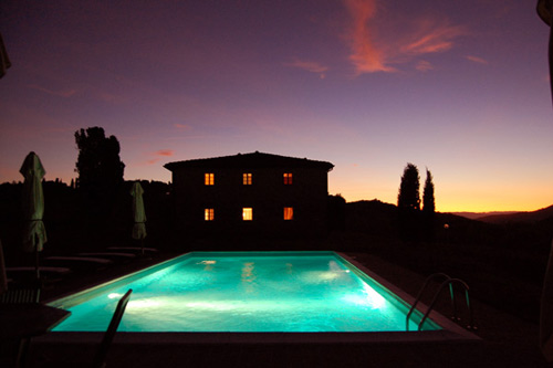 villa in chianti with pool