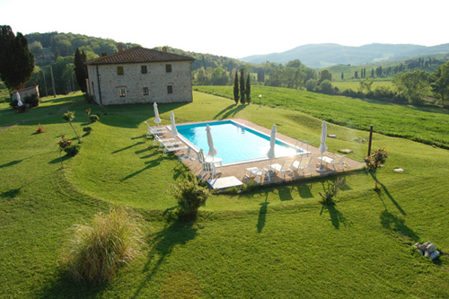 rent villa pool in chianti
