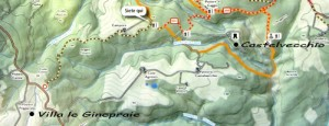 trekking from villa san gimignano to castelvecchio