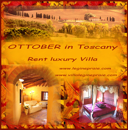 rent tuscan villa october