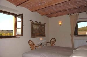 the room of the villa in chianti