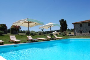 swimming pool of Chianti villa