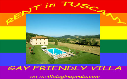 Tuscany villa pool gay
