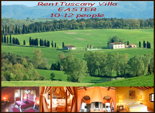 Rent Tuscan Villa easter