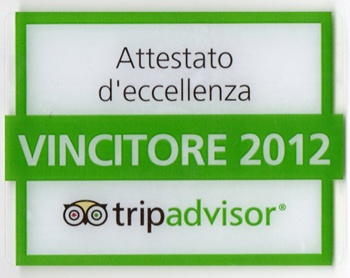 Villa in Tuscany certificate of excellence  on Tripadvisor