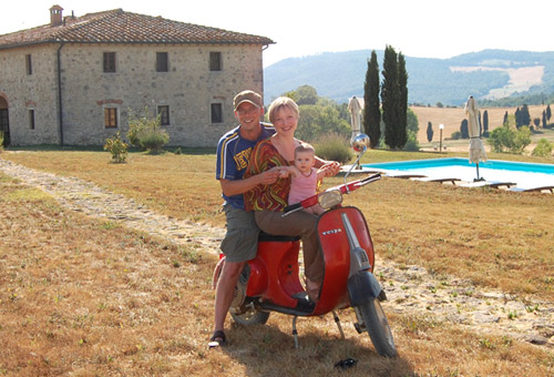 Italian tuscan holiday home family