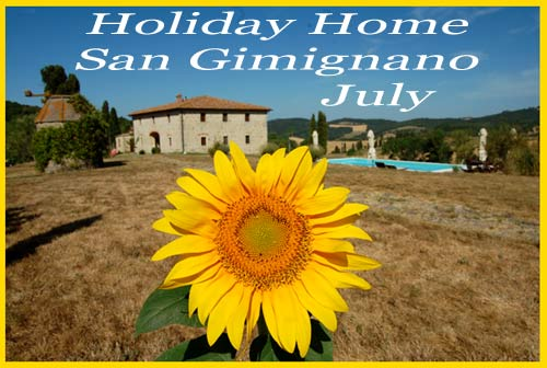 holiday home wit pool in san gimignano rent july