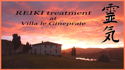 reiki tratments in Tuscany Villa