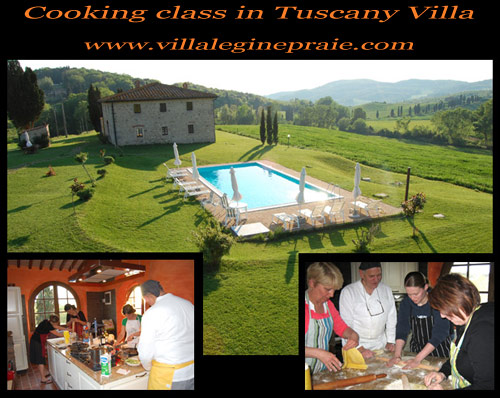 villa in tuscany cooking class