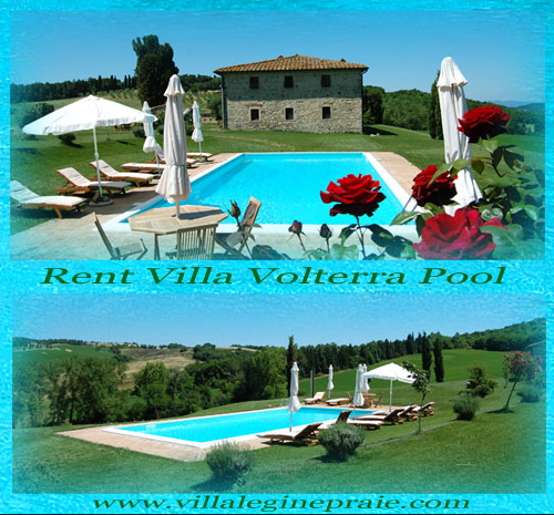 Volterra villa with pool