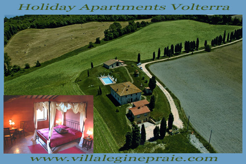 Vacation holiday apartment in Volterra