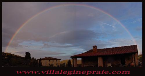 Eainbow in Tuscan Villa