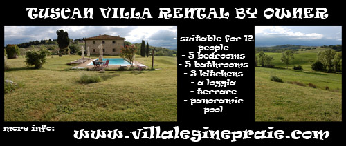 Rent villa in Tuscany by Owner