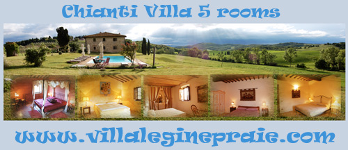 Rent Villa in Chianti with pool and 5 rooms