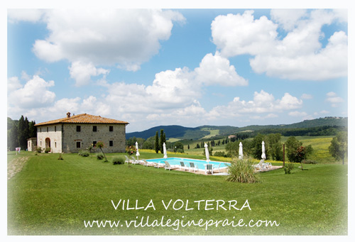 Villa rental in Volterra