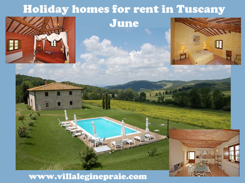 rent apartment tuscany in June