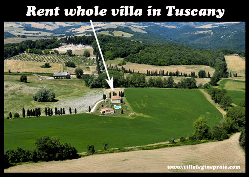 rent  whole villa in tuscany