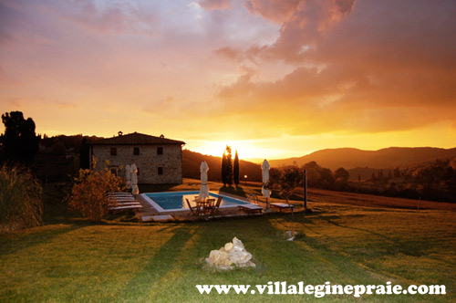 potho of villa in tuscany in the spring time