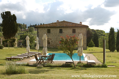 The pool of the farmhouse in Tuscany