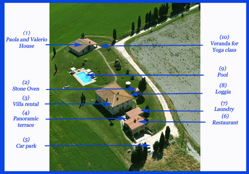 tuscany villa map
