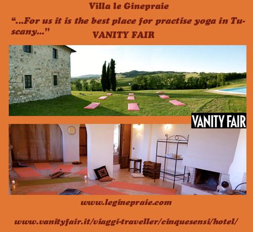 Yoga calss in Tuscany Villa