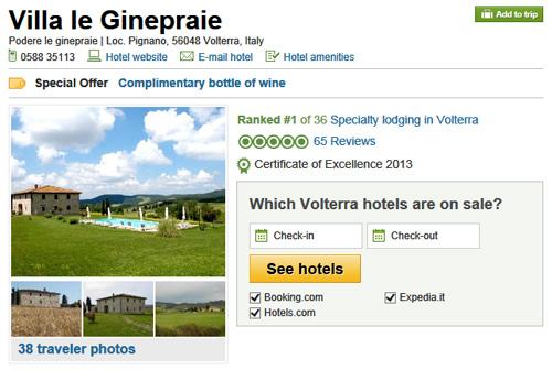 Tripadvisor: reviews  about Tuscan villa