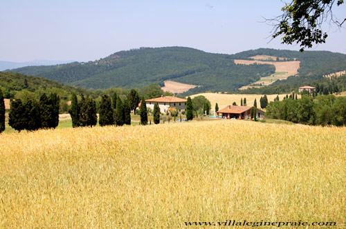 tuscan villa in summer