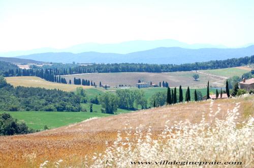 Farmer in Tuscany in summer