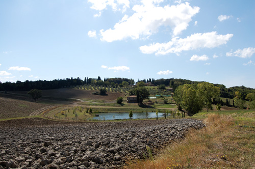 view of the Villa near little lake